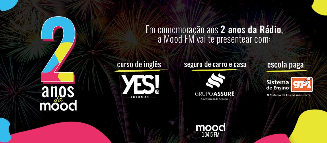 Nos dois anos da Mood FM, você pode ganhar dois anos de boletos no 0800